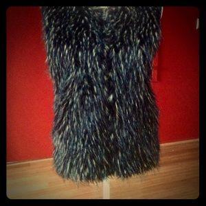 Sweaters - KIKIT faux fur front sweater vest